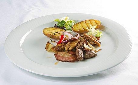 Rýchla živánska s grilovanými zemiakmi